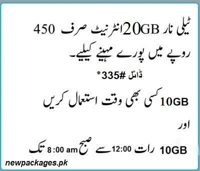 telenor 20gb package monthly